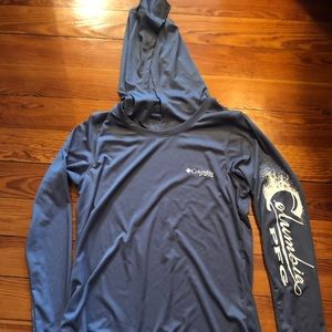 Columbia PFG Title Tee Hoodie- New without tags